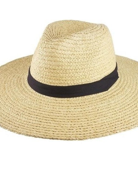 Olive and pique safari straw hat