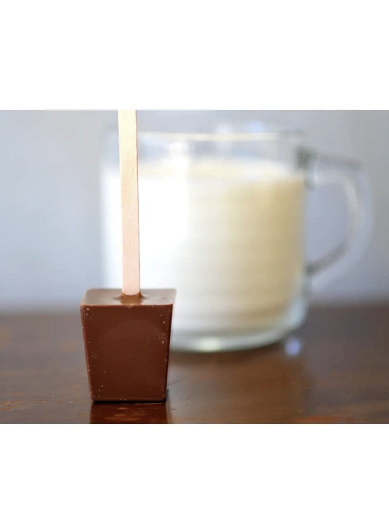 Gourmet hot chocolate on a stick!
