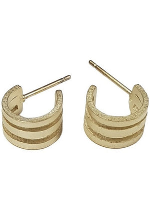 Matte gold cuff earrings