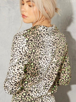 Highlight leopard Chester blouse