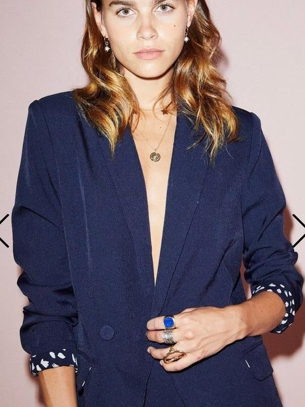 Never fully dressed navy blazer