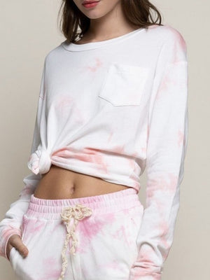 Pink cloud pullover