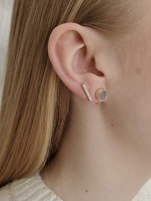 Abra circle stud earrings
