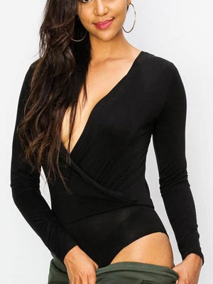 Midnight Surplice Bodysuit