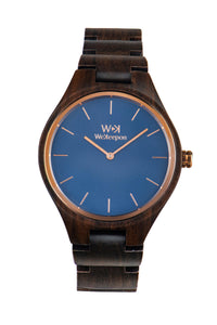 Black Harmony-WeKeepon-Orologio in Legno-Wood Watch-Watches - Brown Wood