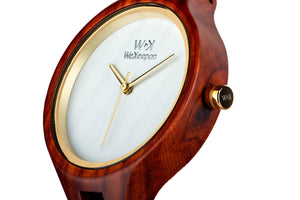 Orologio in Legno -Born to Run- WeKeepon-Wood-Cinturino in Pelle-Wood Watches - Woman - Vera Pelle - Leather Strap