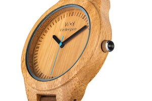Orologio in Legno -Carpe Diem- WeKeepon-Wood-Cinturino in Pelle-Wood Watches - Vera Pelle - Leather Strap