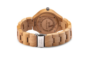 Orologio in Legno -White Harmony- WeKeepon-Wood-Cinturino in Legno-Wood Watches -