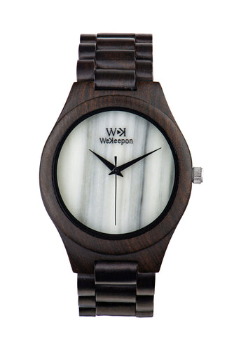 Orologio in Legno - Confident Grey- WeKeepon-Orologio in Marmo - Marble-Wood