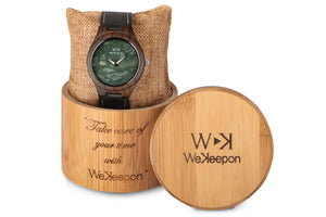 Orologio in Legno - Green Forest- WeKeepon-Orologio in Marmo - Marble-Wood