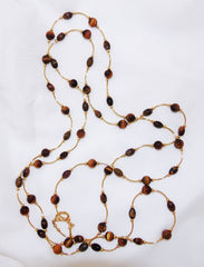 Tiger's Eye Tube Necklace