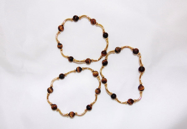 Triplet Set of Tiger's Eye Bracelets