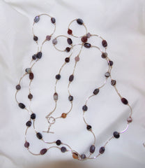 Botswana Agate Tube Necklace