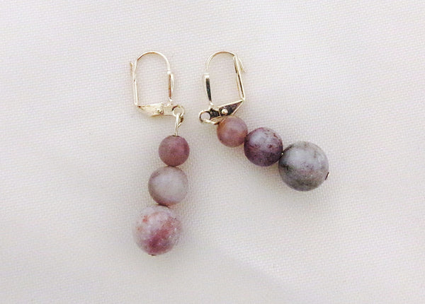 Botswana Agate Earrings - Sterling Silver