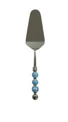 Blue Swirl Serrated Cake Server