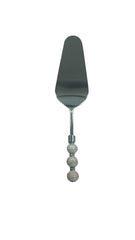 Cream Swirl Serrated Cake Server