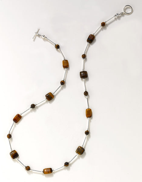 Tiger's Eye Flowing Necklace