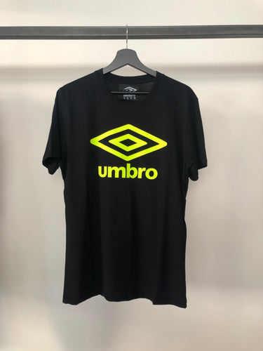 UMBRO - Tshirt Jersey Black/Yellow Fluo