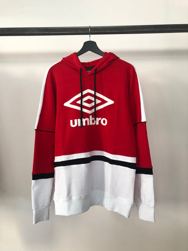 UMBRO - Felpa Cappuccio Red/White