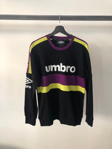 UMBRO - Felpa Girocollo Purple/Lime