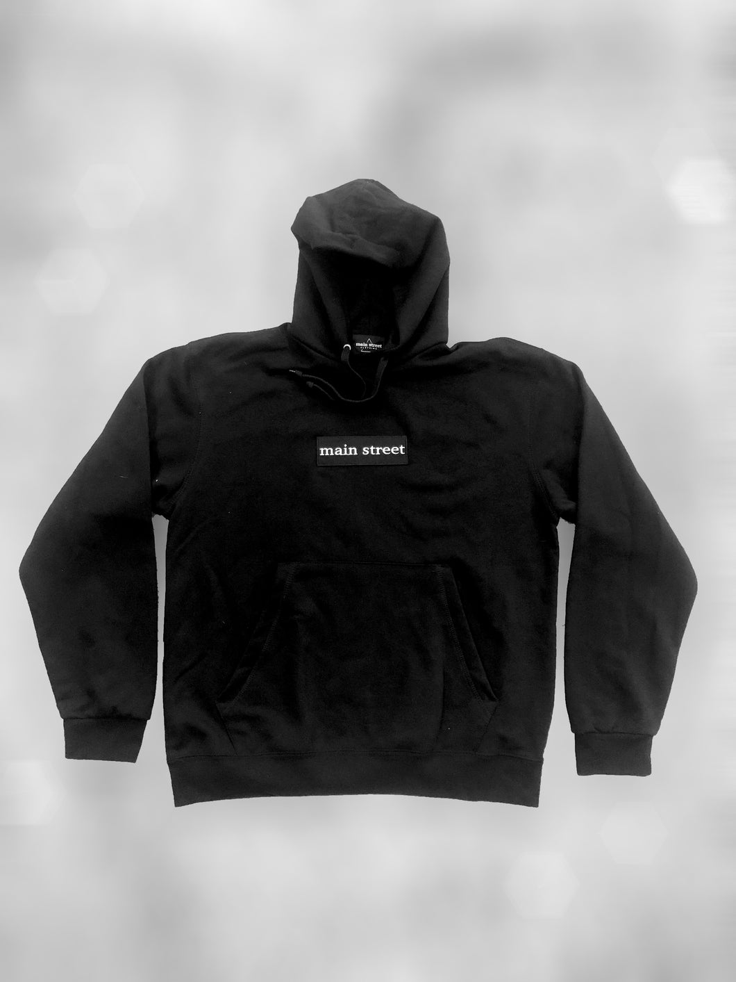 Hoodie Box Logo Black on Black - Main Street®