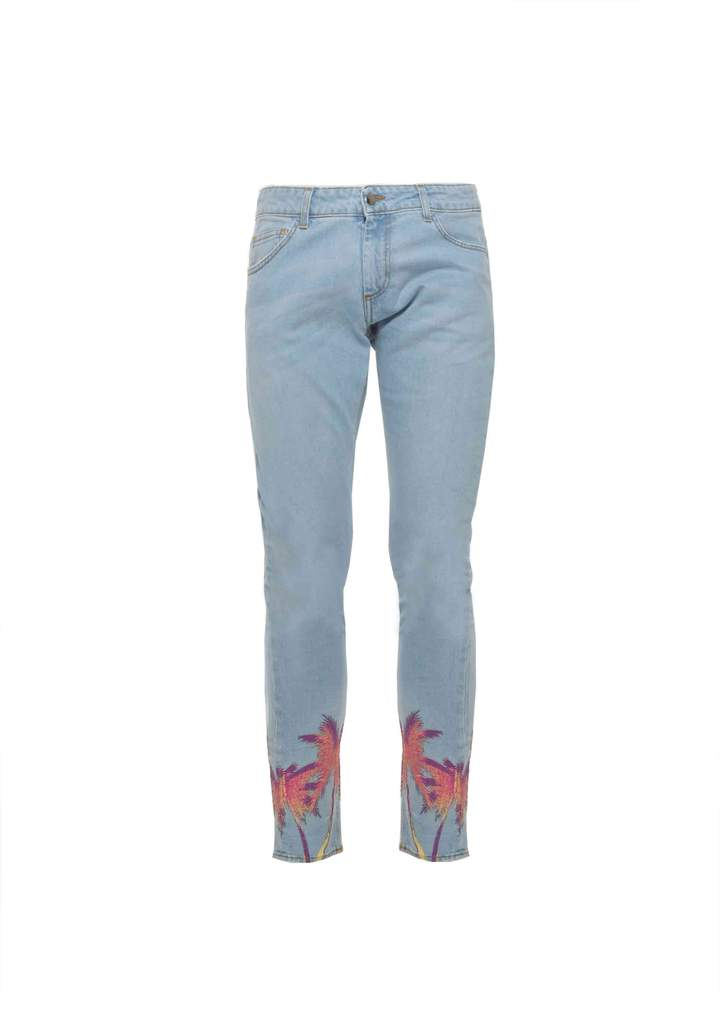 Family First -  Jeans denim palm light blue