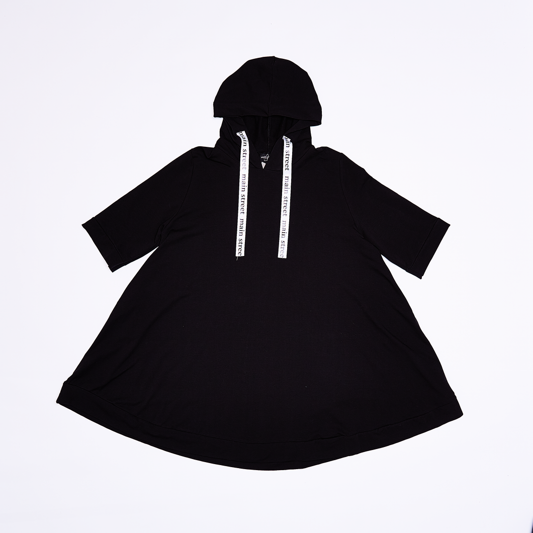 Main Street - Hoodie W. Over Black