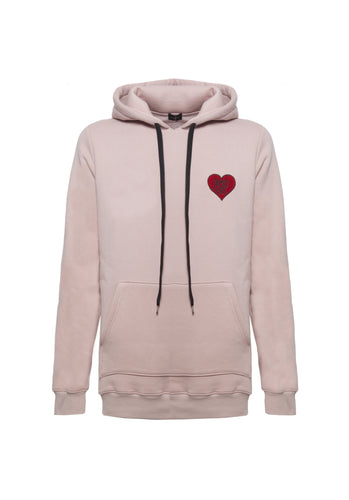 Family First - Hoodie Heart Pink