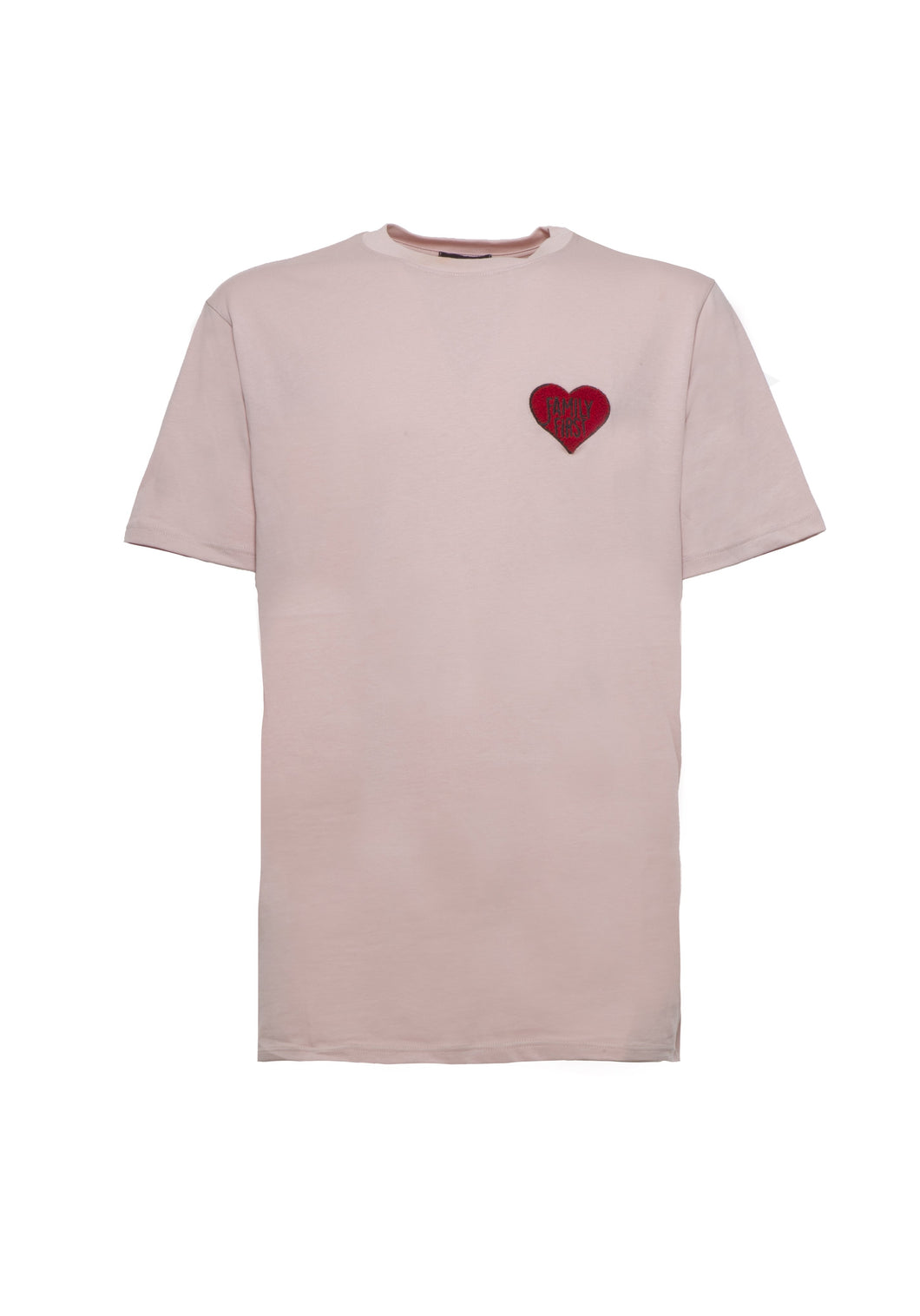 Family First - T-Shirt Heart Pink