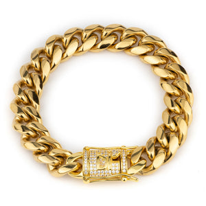 Darkai - Bracciale Cuban Giallo 12mm