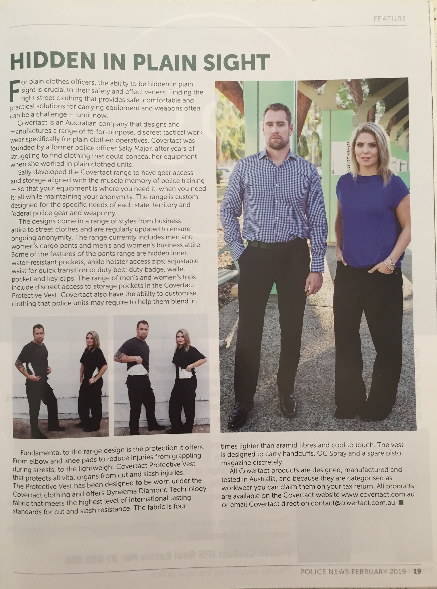 Covertact in the NSW Police Association News Journal