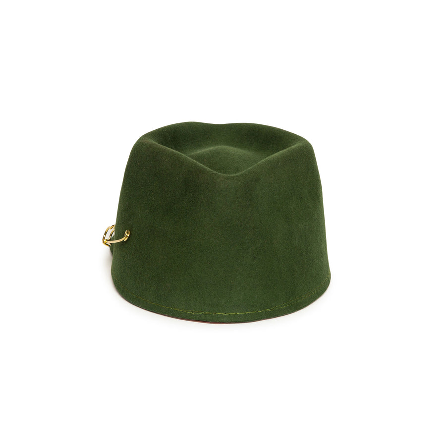 Luxury Custom Olive Cap by Hatmaker Alberto Hernandez of Meshika Hats Located in Los Angeles California