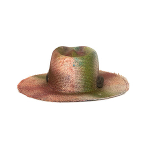 Luxury Custom One of One Fedora by Hatmaker Alberto Hernandez of Meshika Hats Located in Los Angeles California