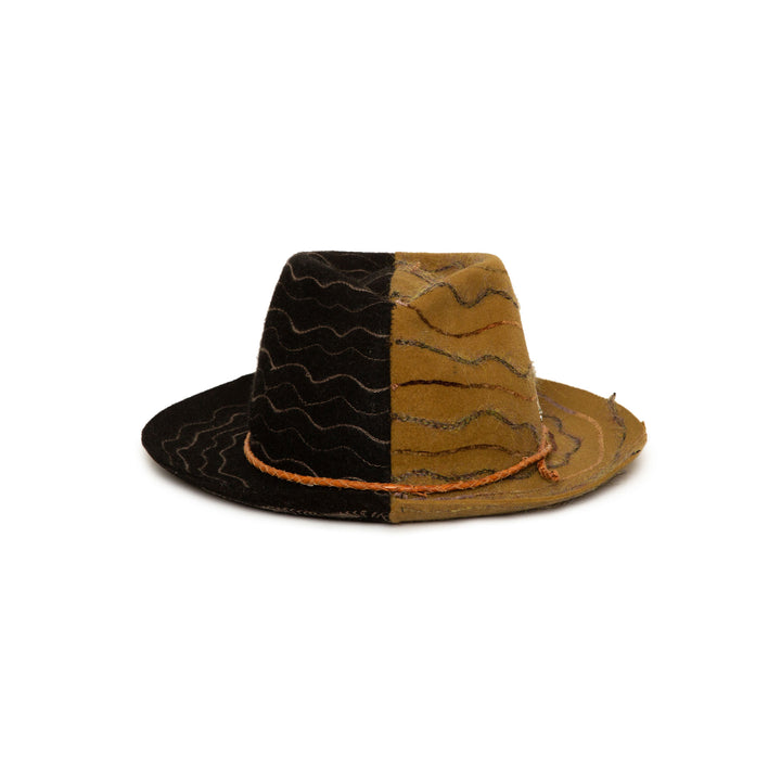 Limited Addition Custom Handmade Fedora by Hatmaker Alberto Hernandez of Meshika Hats