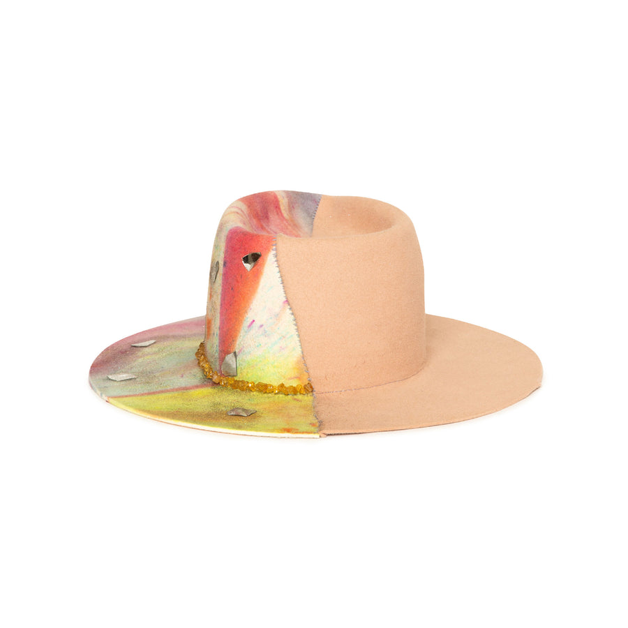 Limited Edition Custom Handmade Fedora by Celebrity Hatmaker Alberto Hernandez of Meshika Hats