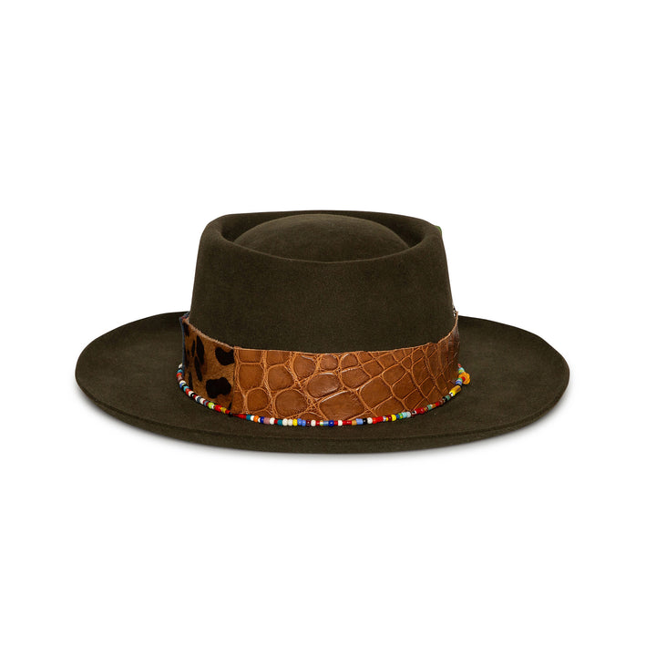 Custom Brown Handmade Fedora by Hatmaker Alberto Hernandez of Meshika Hats