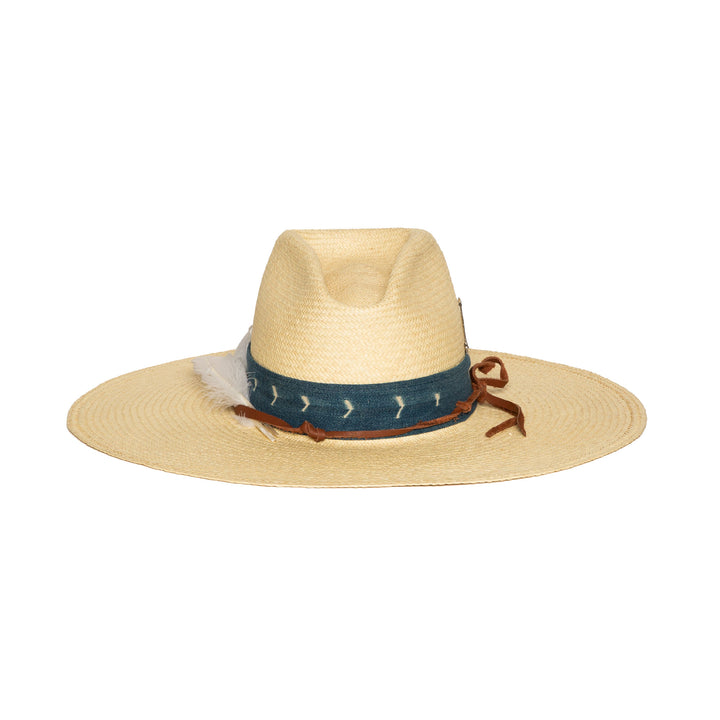 Custom Natural Straw Handmade Fedora by Hatmaker Alberto Hernandez of Meshika Hats