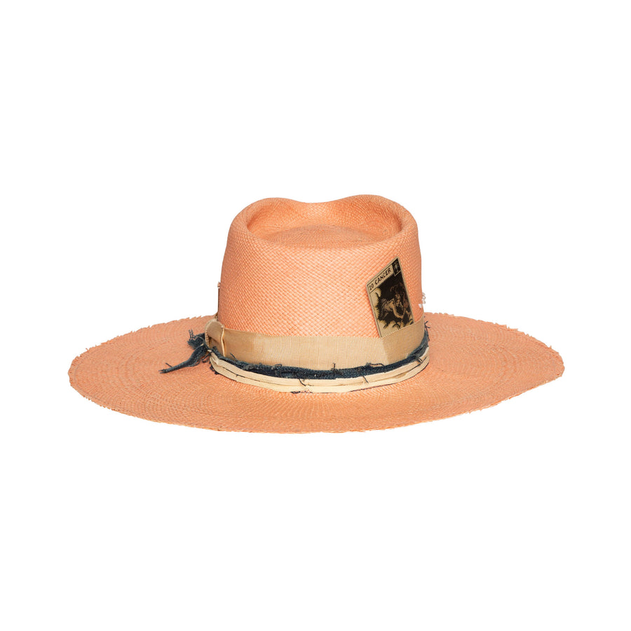 Pink Custom Fedora by Hatmaker Alberto Hernandez of Meshika Hats Made in Los Angeles California