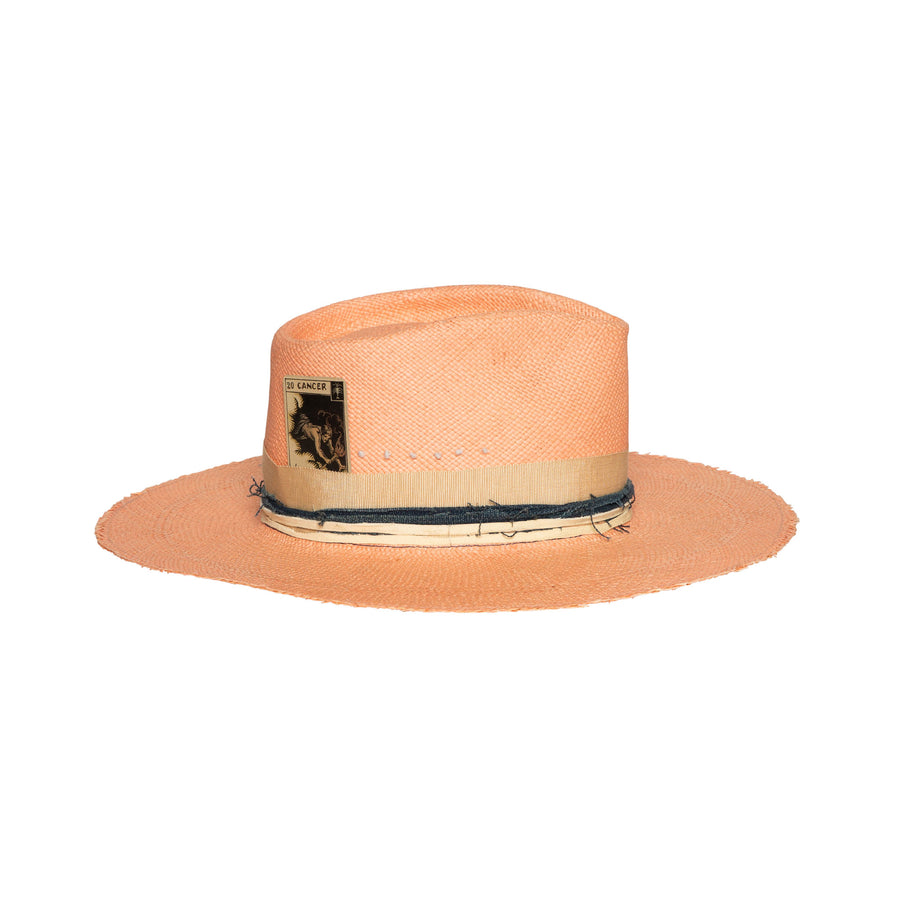 Pink Straw Fedora Made in Los Angeles, CA by Alberto Hernandez of Meshika Hats