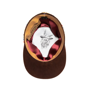 Luxury Handmade Cap made with Beaver felt by Hatmaker Alberto Hernandez of Meshika Hats