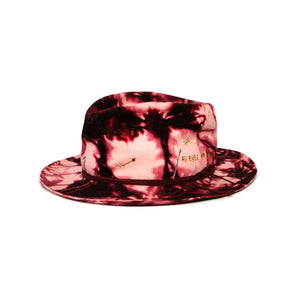 Tie Dye Fedora in luxury rabbit felt by Hatmaker Alberto Hernandez of Meshika Hats