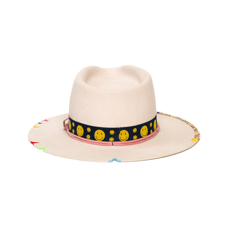 Colorful Custom Fedora in luxury rabbit felt by Hatmaker Alberto Hernandez of Meshika Hats