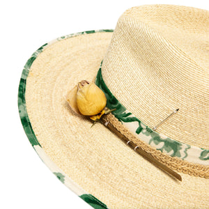 Luxury Handmade Natural Straw Fedora made by Hatmaker Alberto Hernandez of Meshika Hats