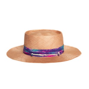 Light Pink Custom Fedora by Hatmaker Alberto Hernandez of Meshika Hats Made in Los Angeles California