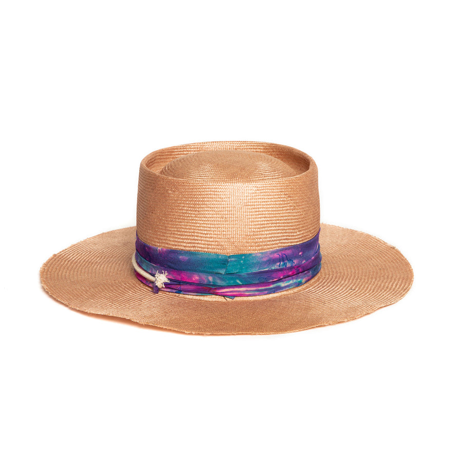 Light Pink Luxury Custom Fedora by Hatmaker Alberto Hernandez of Meshika Hats Located in Los Angeles California