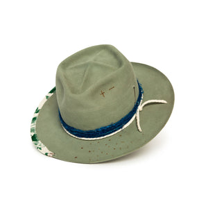 Sage Fedora in luxury Beaver felt by Hatmaker Alberto Hernandez of Meshika Hats