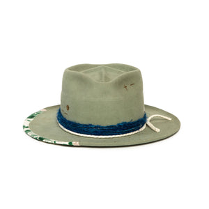 Luxury Handmade Sage Fedora by Alberto Hernandez of Meshika Hats