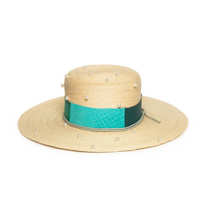 Luxury Handmade Straw Fedora made with Straw by Hatmaker Alberto Hernandez of Meshika Hats