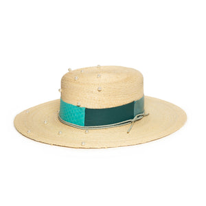 Fedora in luxury Straw felt by Hatmaker Alberto Hernandez of Meshika Hats