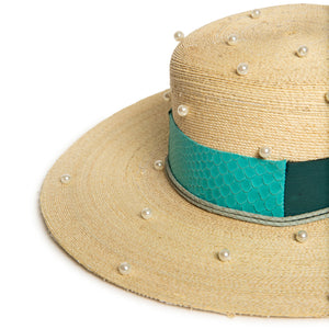 Custom Fedora in luxury straw by Celebrity Hatmaker Alberto Hernandez of Meshika Hats